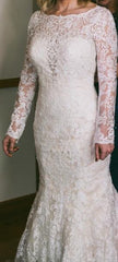 Maggie Sottero 'Tierney' size 4 used wedding dress front view on bride