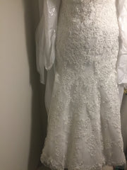 Maggie Sottero 'Stella' size 18 new wedding dress front view hanging