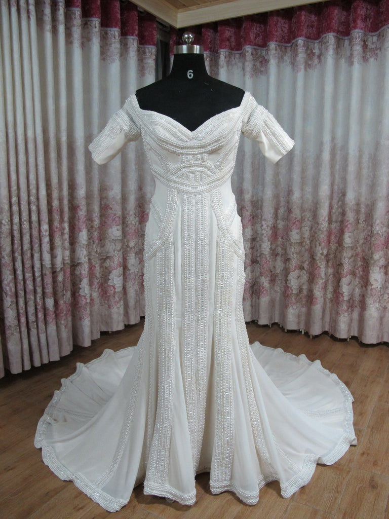 J\'aton Couture Inspired \'Beaded\' size 10 used wedding dress - Nearly ...