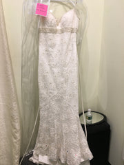 Jasmine 'Phi Couture' size 10 new wedding dress front view on hanger