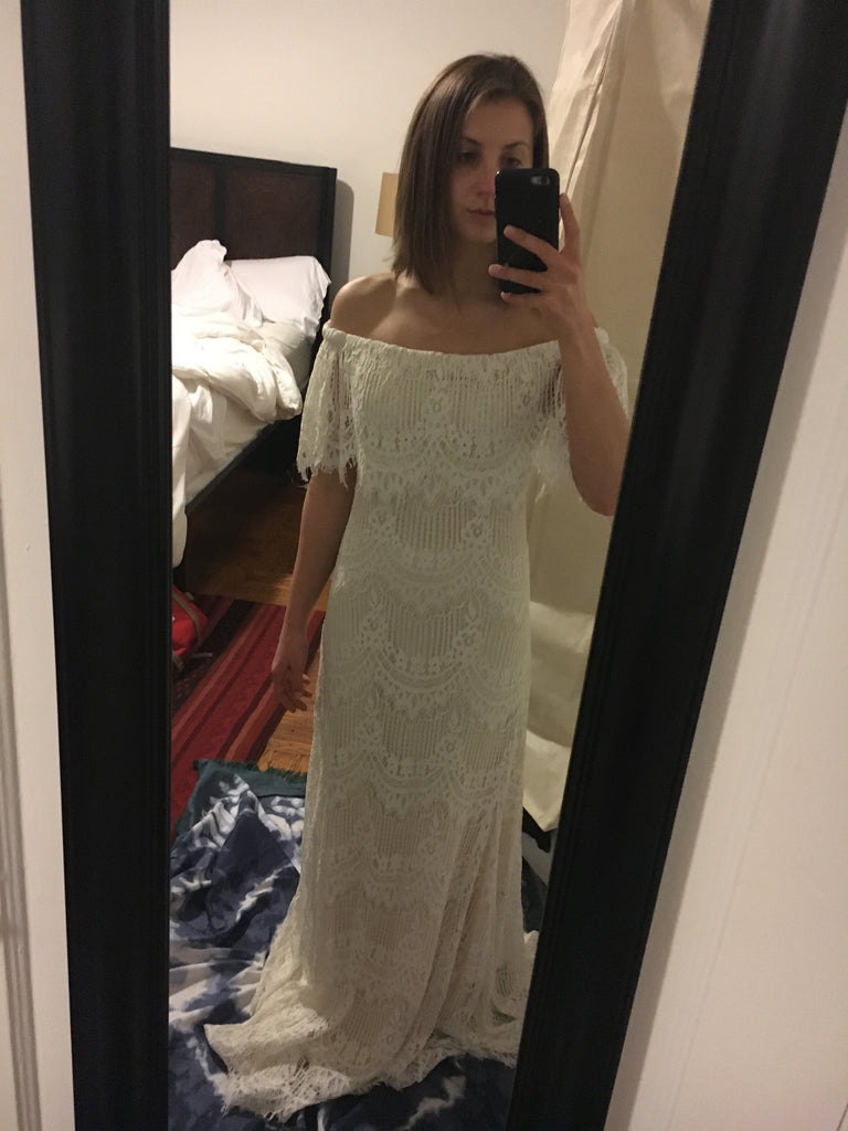BHLDN 'Joplin' size 2 new wedding dress front view on bride