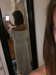BHLDN 'Joplin' size 2 new wedding dress back view on bride