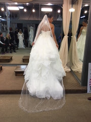 Mori Lee '8202' size 8 new wedding dress back view on bride