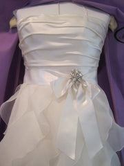 Paloma Blanca Classics Strapless Wedding Dress - Paloma Blanca - Nearly Newlywed Bridal Boutique - 3
