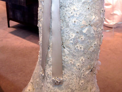 Monique Lhuillier 'Platinum Deluxe' Wedding Dress - Monique Lhuillier - Nearly Newlywed Bridal Boutique - 5