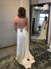 Rebecca Schoneveld 'Corey' size 8 new wedding dress back view on bride
