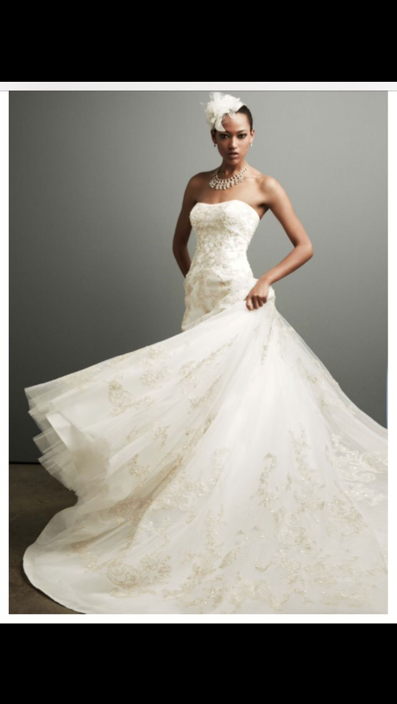 Oleg Cassini 'Strapless Tulle Ballgown' - Oleg Cassini - Nearly Newlywed Bridal Boutique - 1