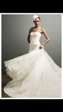 Load image into Gallery viewer, Oleg Cassini 'Strapless Tulle Ballgown' - Oleg Cassini - Nearly Newlywed Bridal Boutique - 1