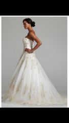Oleg Cassini 'Strapless Tulle Ballgown' - Oleg Cassini - Nearly Newlywed Bridal Boutique - 3