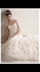 Oleg Cassini 'Strapless Tulle Ballgown' - Oleg Cassini - Nearly Newlywed Bridal Boutique - 4