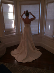 Romona Keveza 'Legends' size 6 sample wedding dress back view on bride