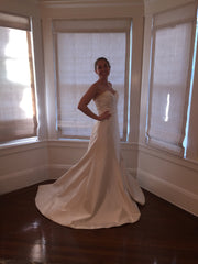 Romona Keveza 'Legends' size 6 sample wedding dress side view on bride