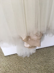 BHLDN 'Heritage' size 4 used wedding dress view of hemline