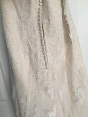 Maggie Sottero 'Joelle' size 8 sample wedding dress back view on hanger