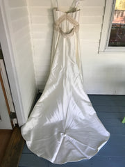 2 Be Bride 'Ivory' size 8 sample wedding dress back view on hanger
