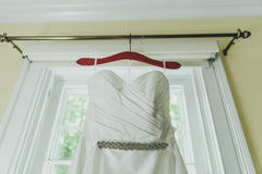 Romona Keveza '904' size 4 used wedding dress front view of bust line
