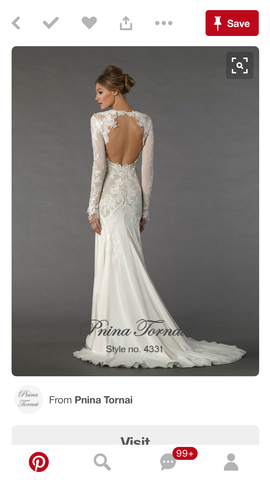 Pnina tornai used and preowned wedding dresses nearly newlywed pnina tornai 4331 pnina tornai 4331 junglespirit Gallery