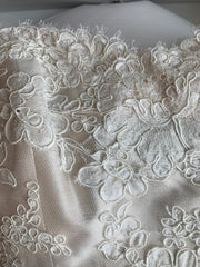Lea Ann Belter 'Custom Classic' size 6 used wedding dress view of material