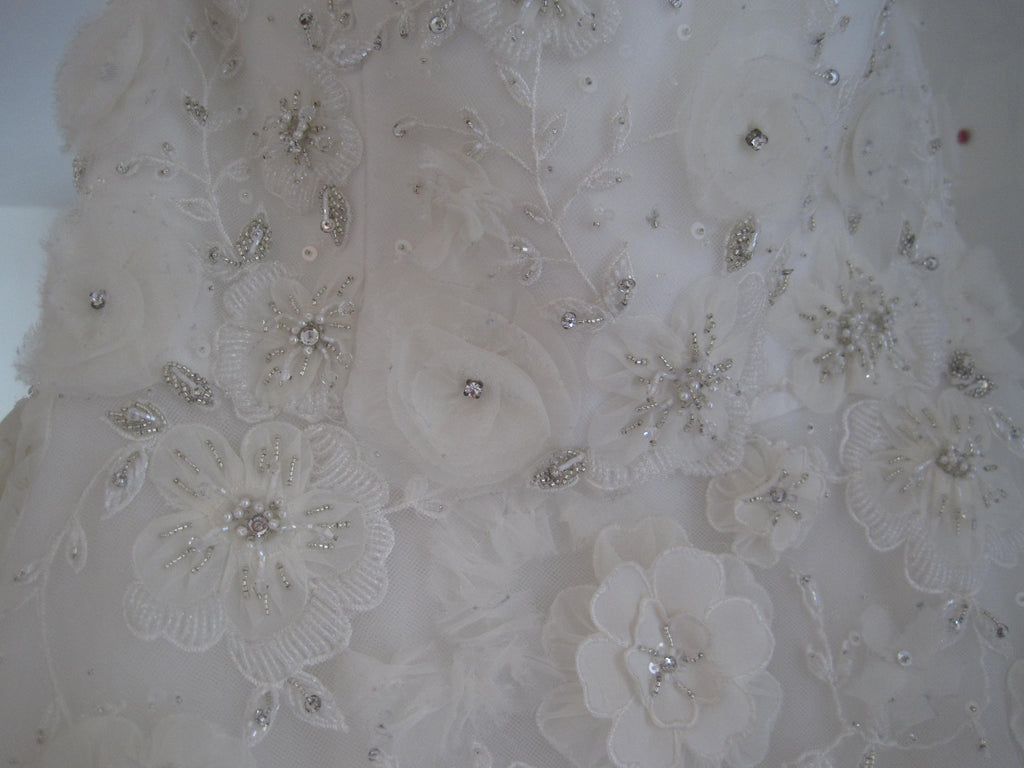 Tara Keely Style 2106 with floral embellishments - Tara Keely - Nearly Newlywed Bridal Boutique - 4