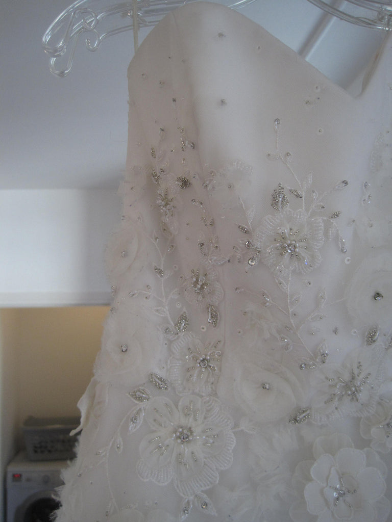 Tara Keely Style 2106 with floral embellishments - Tara Keely - Nearly Newlywed Bridal Boutique - 3
