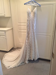 Sottero and Midgley 'Narissa' size 0 used wedding dress front view on hanger