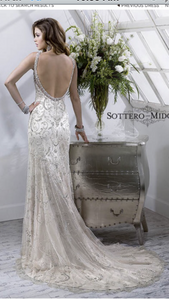 Maggie Sottero 'Sonata' size 4 used wedding dress back view on model
