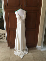 Kenneth Pool 'Faith' size 4 used wedding dress front view on hanger