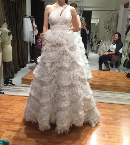 Lazaro 'Feather Dress'