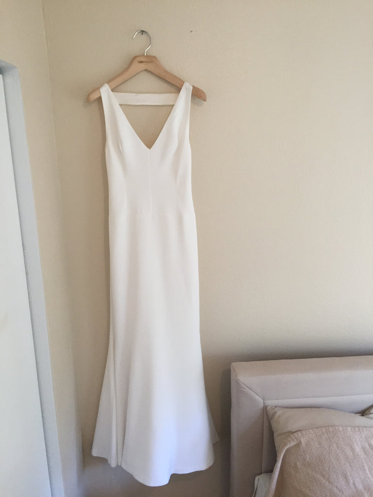 Vera Wang 'Micaela'  size 2 used wedding dress front view on hanger
