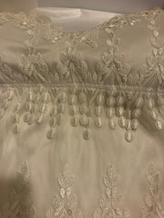 Claire Pettibone 'Kristene' size 12 used wedding dress front view flat