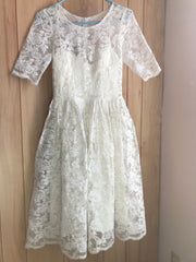 Leanne Marshall 'Melissa' size 4 used wedding dress front view on hanger