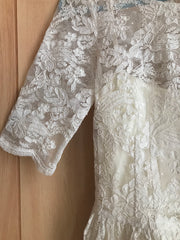 Leanne Marshall 'Melissa' size 4 used wedding dress close up of lace
