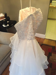 Mori Lee 'Madeline Gardner' size 6 new wedding dress side view on hanger