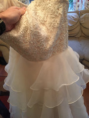 Mori Lee 'Madeline Gardner' size 6 new wedding dress front view on hanger