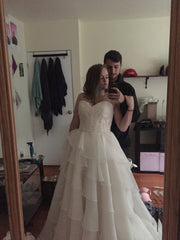Mori Lee 'Madeline Gardner' size 6 new wedding dress front view on bride