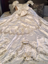 Load image into Gallery viewer, Mori Lee 'Princess' size 12 used wedding dress back view of dress