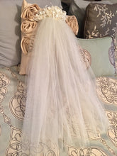 Load image into Gallery viewer, Mori Lee 'Princess' size 12 used wedding dress view of veil