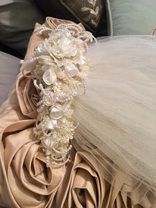 Mori Lee 'Princess' size 12 used wedding dress view of headpiece