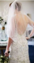 Load image into Gallery viewer, Maggie Sottero 'Sonata' size 4 used wedding dress back view on bride