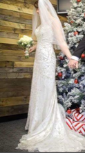 Load image into Gallery viewer, Maggie Sottero 'Sonata' size 4 used wedding dress side view on bride