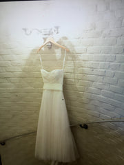 Vera Wang 'Delaney' size 6 used wedding dress front view on hanger