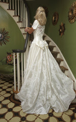 Priscilla of Boston Silk Fit And Flare With Bow - Priscilla of Boston - Nearly Newlywed Bridal Boutique - 1
