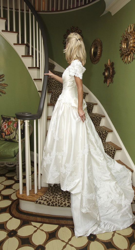Priscilla of Boston Silk Fit And Flare With Bow - Priscilla of Boston - Nearly Newlywed Bridal Boutique - 4