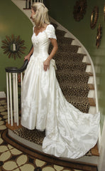 Priscilla of Boston Silk Fit And Flare With Bow - Priscilla of Boston - Nearly Newlywed Bridal Boutique - 3