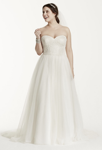 David's Bridal 'Tulle Lace'