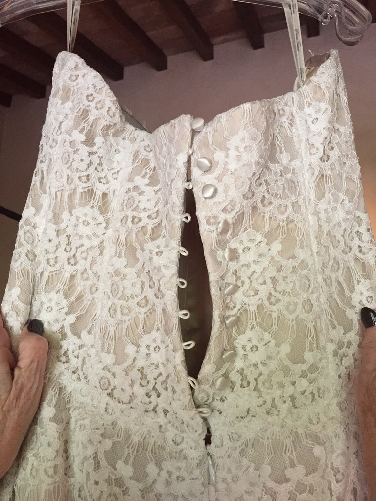 Pnina Tornai 'Lace Mermaid 4159F' - Pnina Tornai - Nearly Newlywed Bridal Boutique - 2