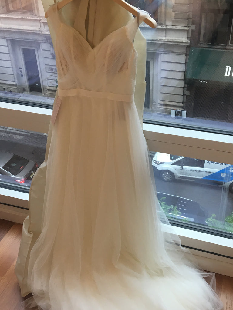 BHLDN 'Heaton' size 0 new wedding dress front view on hanger