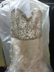 Lazaro '3161' size 10 new wedding dress front view on hanger