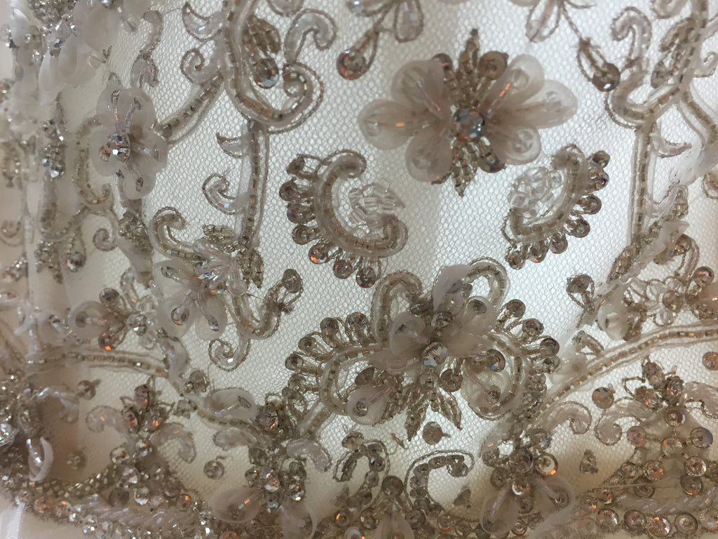 Lazaro '3161' size 10 new wedding dress close up of fabric