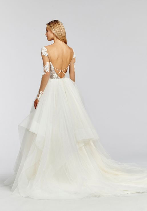 Hayley Paige 'Pippa' size 10 new wedding dress back view on model